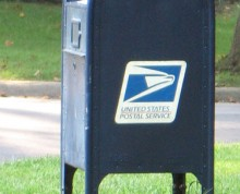 Blue Mail Box